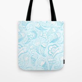 Ghostly Paisley Tote Bag
