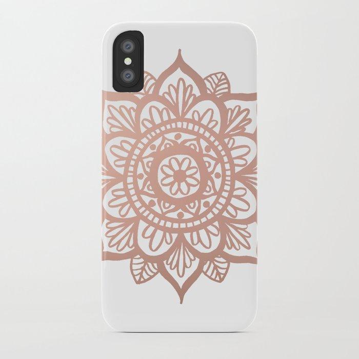 New Rose Gold Mandala iPhone Case