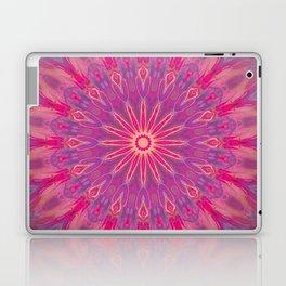 Bright Pink Purple Mandala Design Laptop & iPad Skin
