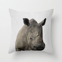 Rhino - Colorful Throw Pillow