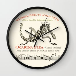 Ocarina Flea (Clarinas Andantus)  Chris Kluge Musical Insects of the World Wall Clock
