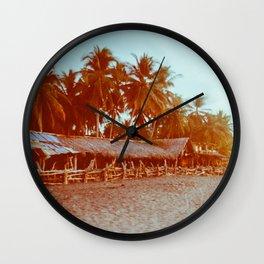 Carribean Beach Retro-Styled Wall Clock