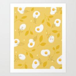 Happy Eggs Art Print