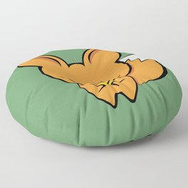 The fox and the gold pan flute Floor Pillow