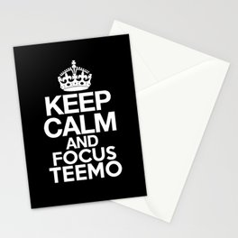 Keep Calm and Focus Teemo - League of Legends Stationery Cards