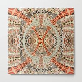Playful retro patterns in fall colors Metal Print