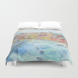 Vernazza, Cinque Terre, Italy Duvet Cover