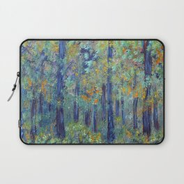 Impressionism Landscape Tree Forest, Rustic Art Home Decor Laptop Sleeve