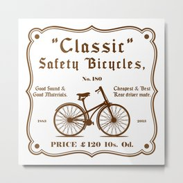 Classic Safety Bicycles Metal Print