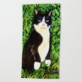 Kitty in the Woods Beach Towel