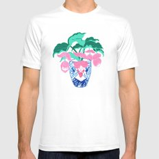A Pioneer (medinilla magnifica) Mens Fitted Tee White MEDIUM