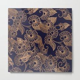 Flower Golden Metal Print
