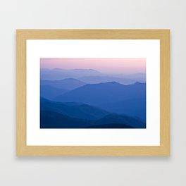 sunset palette Framed Art Print