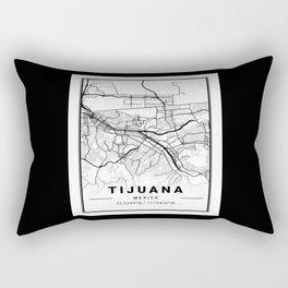 Tijuana, Mexico, street map, GPS coordinates Rectangular Pillow