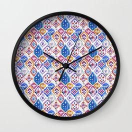 mosaic balinese ikat print mini Wall Clock