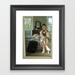 Self Portrait with Camera Framed Art Print