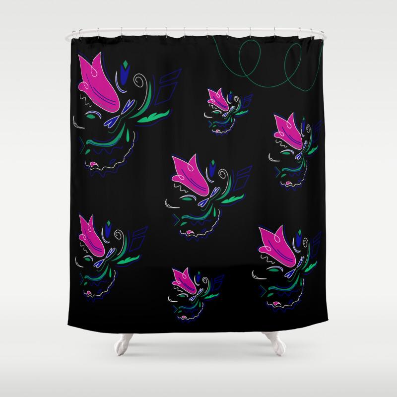 Luxury Black Tulips Of Bolivia Shower Curtain