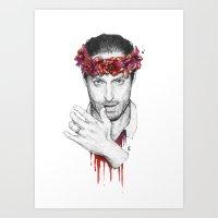 rick grimes Art Prints featuring Rick Grimes by Nikita Jobson