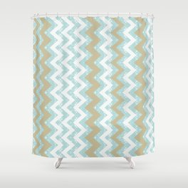 Chevrons and Dots Shower Curtain