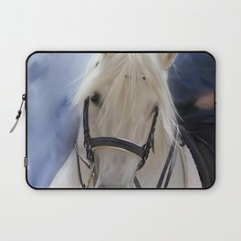 Painted White Horse head Laptop Sleeve