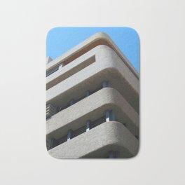 modern architecture - brutalist corner blie sky Bath Mat