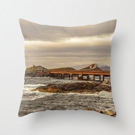 norwegian Scenic Routes - Atlanterhavsvegen Throw Pillow