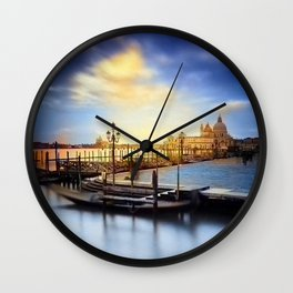 Serene View of Venice Wall Clock