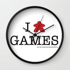 I Meeple Games Wall Clock