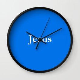 Jesus 6 blue Wall Clock