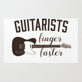 Guitarists Finger Faster Musician for Guitar Players Rug