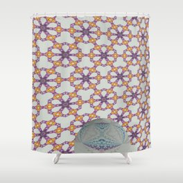 Hawaiian Diamond Header WallBall4 Shower Curtain