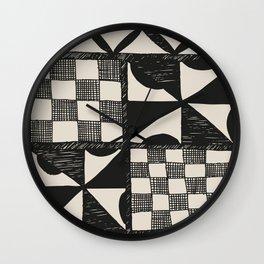 Tapa Cloth | Pacifica Patterns | Tribal Art Wall Clock