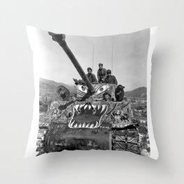 M1 Tank in Korea Throw Pillow