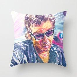 """Jurassic Park : Jeff Goldblum/Ian Malcom : """"Chaotician 2 / 4"""" Throw Pillow"""