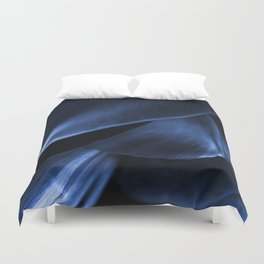 Succulent Leaf In Blue Color #decor #society6 #homedecor Duvet Cover