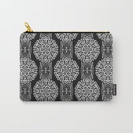 Black and white ornament .damask , damask ornament Carry-All Pouch