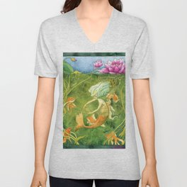 Treasures of the Lotus Nymph Unisex V-Neck