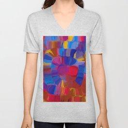 a spyral of happy colors Unisex V-Neck
