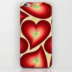 Coloured Hearts  iPhone & iPod Skin