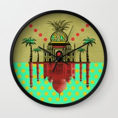 pineapple architecture 2 Wall Clock