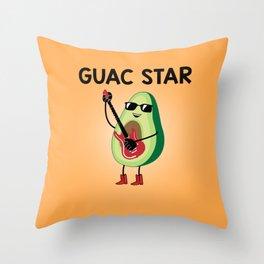 Baesic Guac Star Throw Pillow