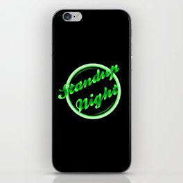 Standup Night Florescent Light iPhone Skin