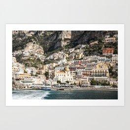 Positano Port and Beach Art Print