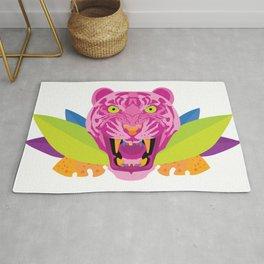 hot pink tiger Rug