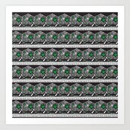 Mt Taranaki/Manukau Stamp Collage Art Print