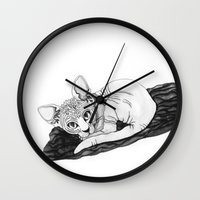sphynx Wall Clocks featuring sphynx by Sara Kallioinen Lundgren