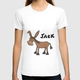 Funny Cartoon Donkey Named Jack T-shirt