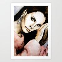 lana del rey Art Prints featuring Del Rey by Luna Perri