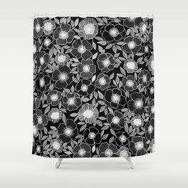 Poppy Black Shower Curtain
