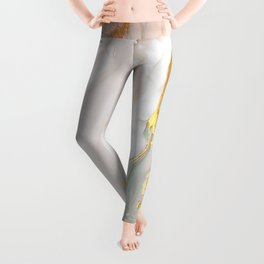 Blush Gold Alcohol Ink Abstract 1 Leggings